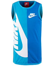Nike Little Boys Colorblocked Logo-Print Cotton Tank