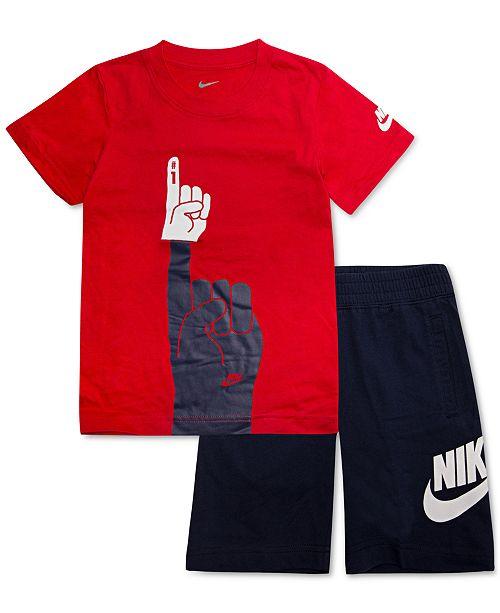 58af0a900 Nike Toddler Boys 2-Pc. Graphic-Print T-Shirt & Shorts Set. Macy's / Kids  ...