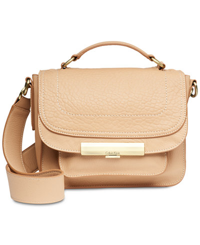 Calvin Klein Wendy Leather Small Top-Handle Crossbody