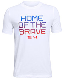 Under Armour Big Boys Brave-Print T-Shirt