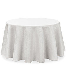 "Waterford Moonscape White 70"" Round Tablecloth"