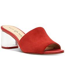 Katy Perry Kaitlynn Lucite Heel Slide Dress Sandals