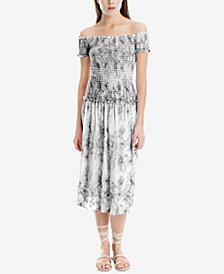 Max Studio London Smocked-Bodice Maxi Dress, Created for Macy's