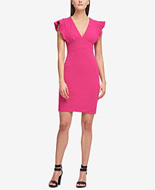 DKNY V-Neck Scuba Sheath Dress, Created for Macy's