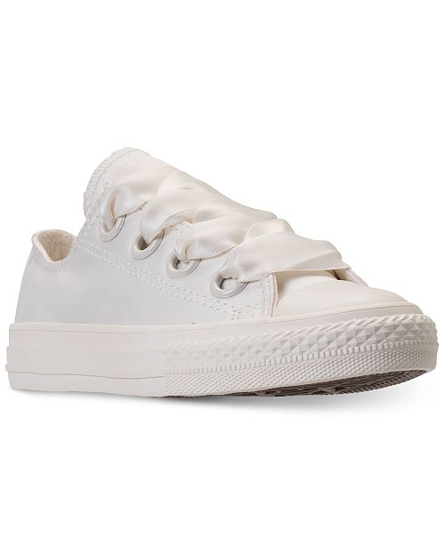 f6dcdc14a820 ... Converse Big Girls  Chuck Taylor All Star Big Eyelets Ox Casual Sneakers  from Finish ...