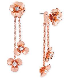 kate spade new york Gold-Tone Pavé Flower Ear Jacket Earrings