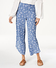 American Rag Juniors' Printed Flyaway Pants, Created for Macy's