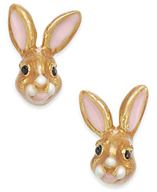 kate spade new york Gold-Tone Bunny Stud Earrings