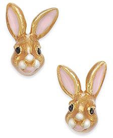 kate spade new york Gold-Tone Bunny Stud Earrings
