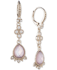 Marchesa Gold-Tone Multi-stone Drop Earrings
