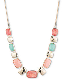"Nine West Multi-Stone Statement Necklace, 16""+ 3"" extender"