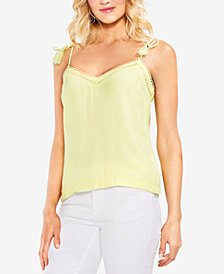 Vince Camuto Tie-Strap Eyelet-Detail Camisole
