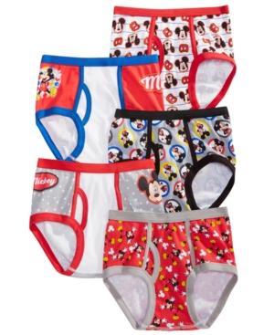 Disneys Mickey Mouse Little  Big Boys 5Pk Cotton Briefs