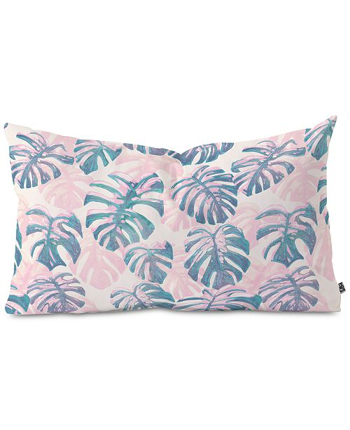 Deny Designs Pinky Palms Oblong Throw Pillow
