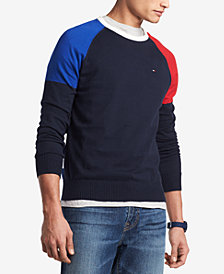 Men's Perry Colorblocked Raglan-Sleeve Sweater, Created for Macy's