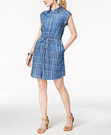 Style & Co Petite Printed Shirtdress, Created for Macy's