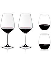 157a0b4792bb Riedel 4-Pc. O Stemless & Cabernet Stemmed Red Wine Glasses + Gift Set