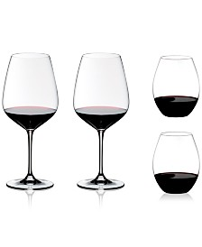 Riedel 4-Pc. O Stemless & Cabernet Stemmed Red Wine Glasses + Gift Set