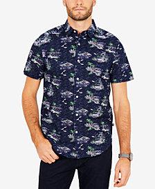 Nautica Men's Island Printed Classic Fit Shirt