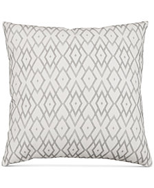 "Hallmart Collectibles Gray Printed 20"" Square Decorative Pillow"