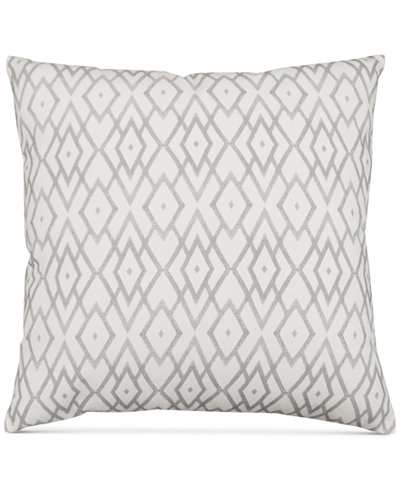 Hallmart Collectibles Gray Printed 40 Square Decorative Pillow Enchanting Gray Decorative Bed Pillows