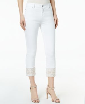 I.n.c. Curvy-Fit Embroidered Cuffed Jeans, Created for Macy's 6821946