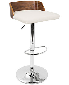 Maya Adjustable Bar Stool, Quick Ship