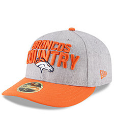 New Era Denver Broncos Draft Low Profile 59FIFTY FITTED Cap