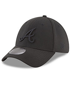 New Era Atlanta Braves Blackout 39THIRTY Cap