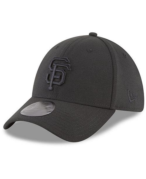 uk availability f3b8c 8b203 ... New Era San Francisco Giants Blackout 39THIRTY Cap ...