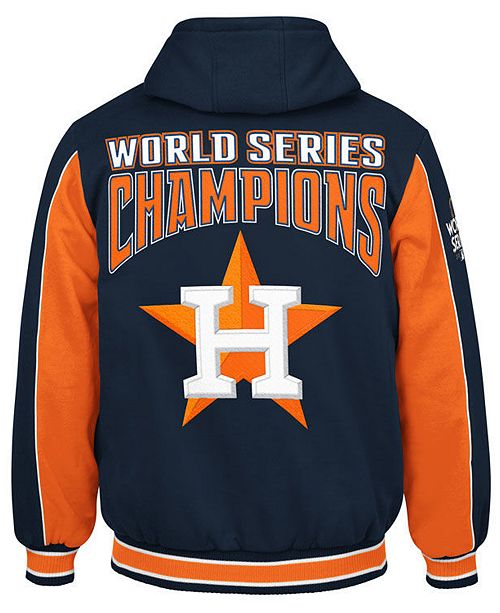 b0027b6ae156 G-III Sports Men s Houston Astros World Series Champion Hooded Fleece Jacket  ...