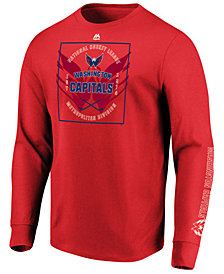 Majestic Men's Washington Capitals Keep Score Long Sleeve T-Shirt