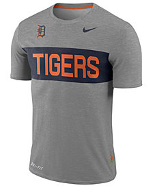 Nike Men's Detroit Tigers Dri-Fit Slub Stripe T-Shirt