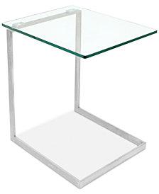 Zenn Glass End Table, Quick Ship