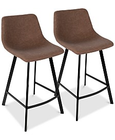 Outlaw Counter Stool (Set of 2), Quick Ship