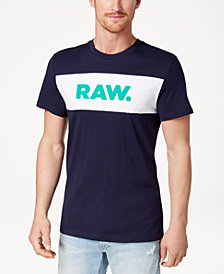 G-Star RAW Men's Bellar Colorblocked Logo-Print T-Shirt