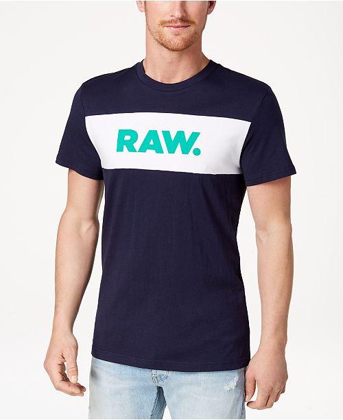 G-Star Raw Men's Bellar Colorblocked Logo-Print T-Shirt