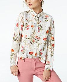 Marella Cherry Floral-Print Shirt