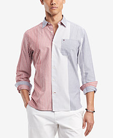 Tommy Hilfiger Men's Milo Striped Classic Fit Shirt, Created for Macy's