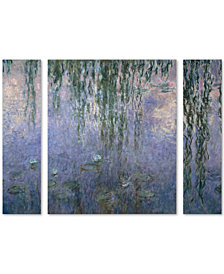 Claude Monet 'Water Lilies III 1840-1926' Large Multi-Panel Wall Art Set