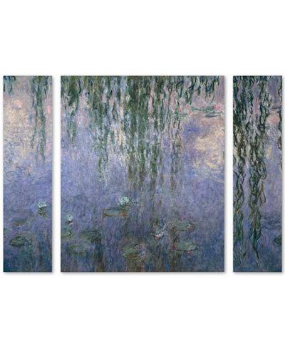 Claude Monet 'Water Lilies III 1840-1926' Large Multi-Panel Wall Art Set