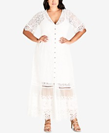 City Chic Trendy Plus Size Lace Maxi Dress