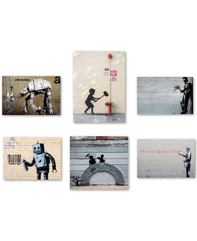 Banksy 6-Pc. Canvas Wall Art Print Collection