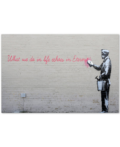Banksy 'Echoes' Canvas Wall Art