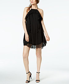 Rachel Zoe Colby Silk Ruffled Halter Dress