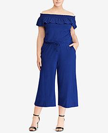 Lauren Ralph Lauren Plus Size Off-The-Shoulder Jumpsuit