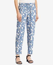 Lauren Ralph Lauren Twill Skinny Pants, Created for Macy's