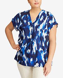 Lauren Ralph Lauren Plus Size Printed Top