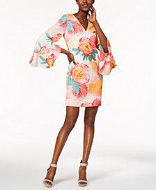 Calvin Klein Ruffled Bell-Sleeve Dress