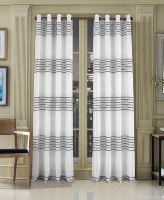 "Freeport 50"" x 84"" Stripe Grommet Curtain Panel"